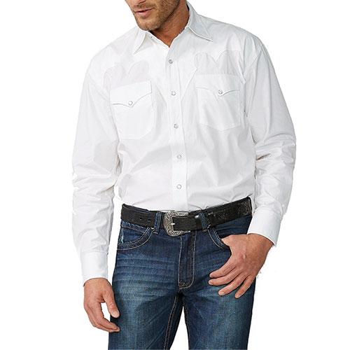 Stetson Men's Solid Western Shirt